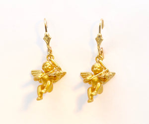 Cupid Earrings in 18K Yellow Gold Designed by Charles Garnier