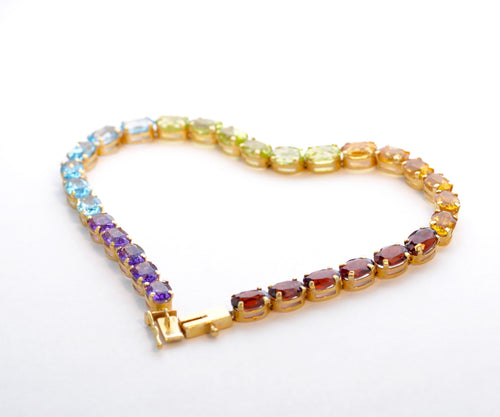 14K Yellow Gold Multi-Gem Bracelet