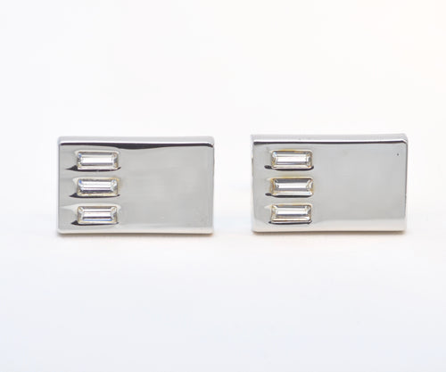 Cufflinks with Cubic Zirconia Accents