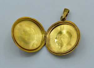 18K yellow gold, French Art Nouveau locket