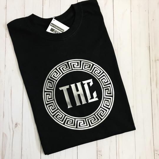 THC Logo Tee - Black and Silver