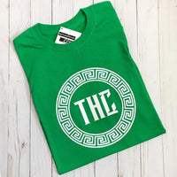 THC Logo Tee - Green and White
