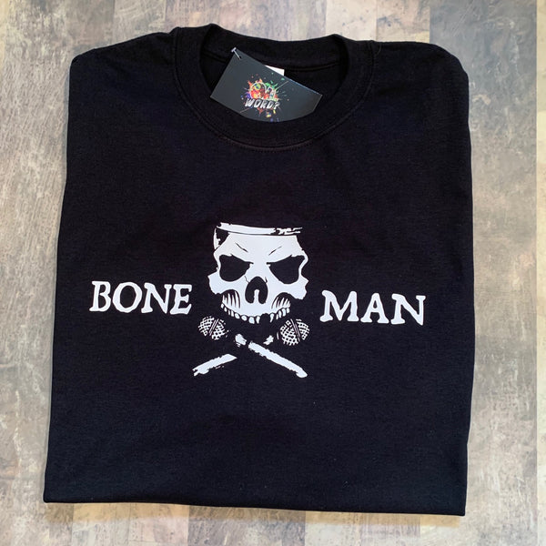 Boneman Tee - Black and White
