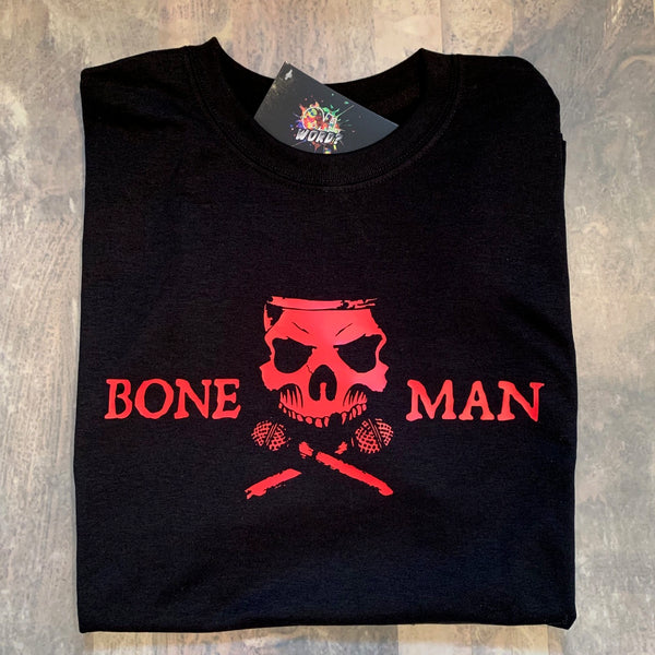 Boneman Tee - Black and Red
