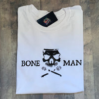Boneman Tee - White and Black