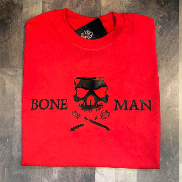 Boneman Tee - Red and Black