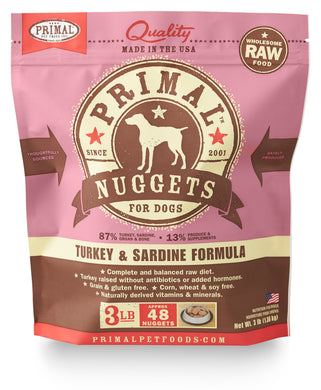 Primal Turkey/Sardine - Natural Dawg Cuisine