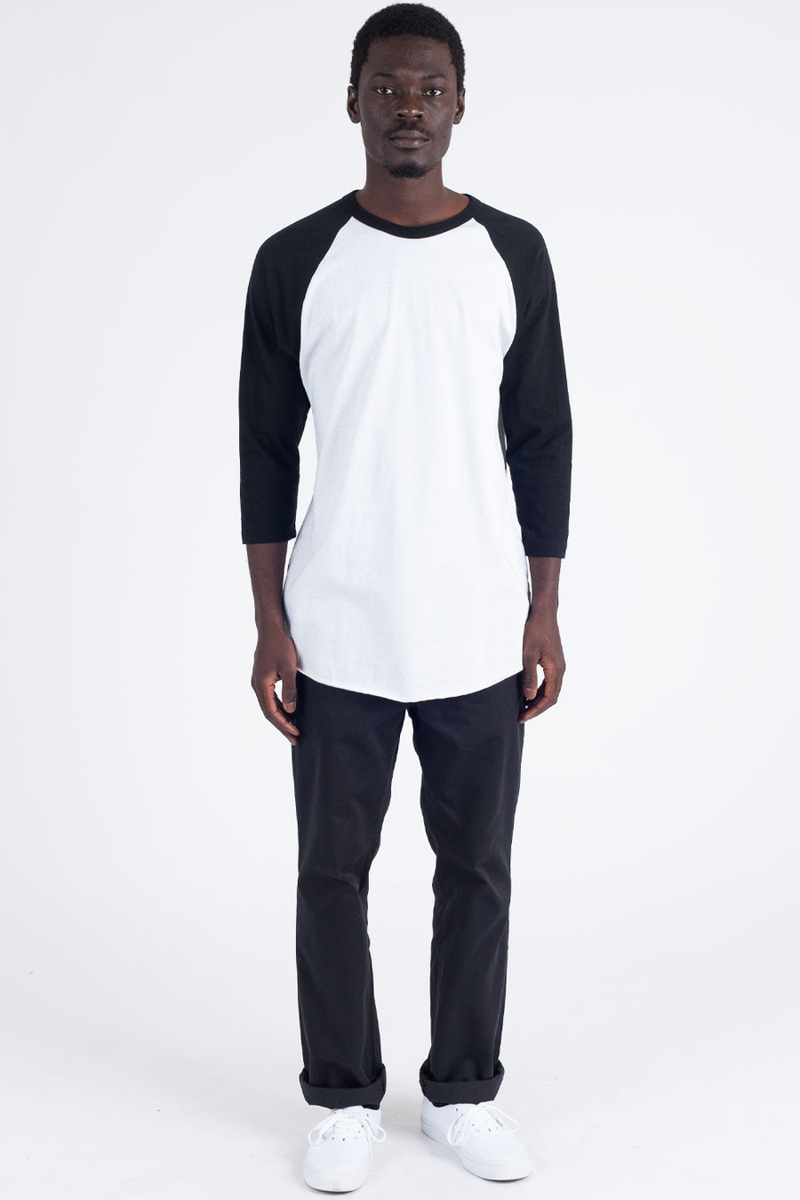 211: UNISEX POLY-COTTON 3/4 SLEEVE RAGLAN