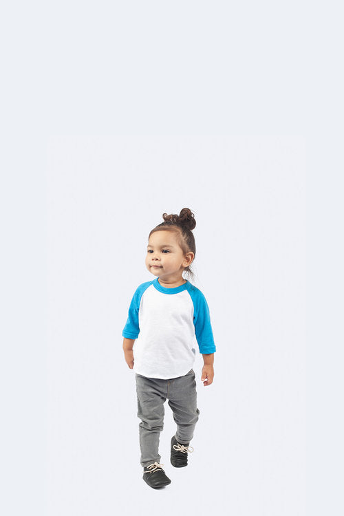 215: INFANT POLY-COTTON 3/4 SLEEVE RAGLAN