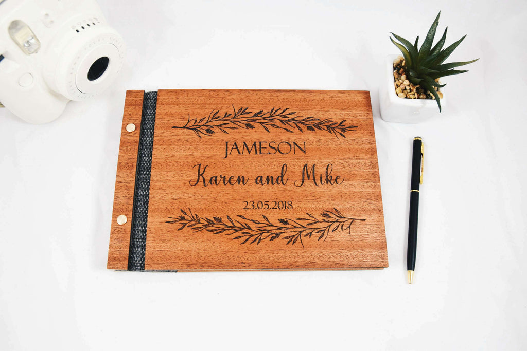 Exclusive Wood Wedding Guest Book