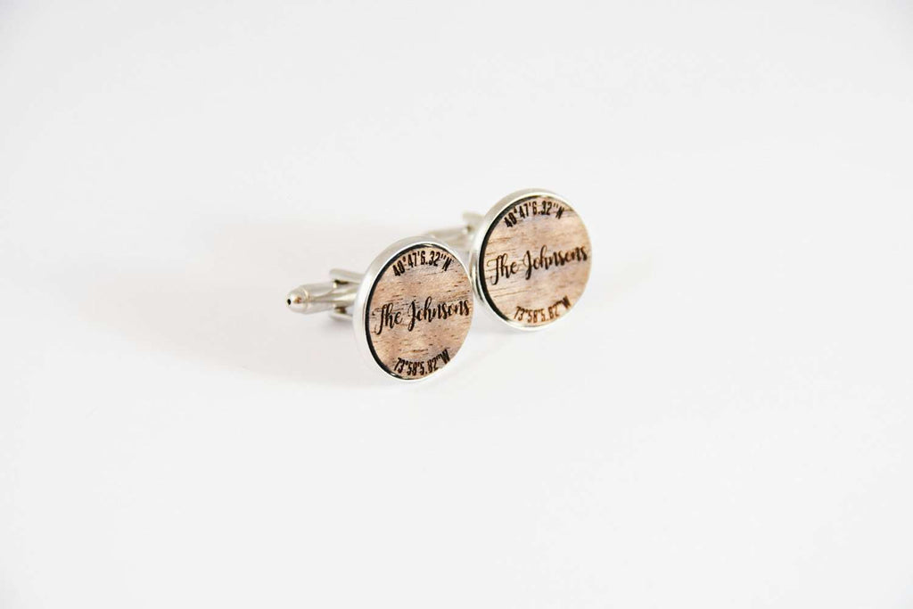 Family name coordinates cufflinks