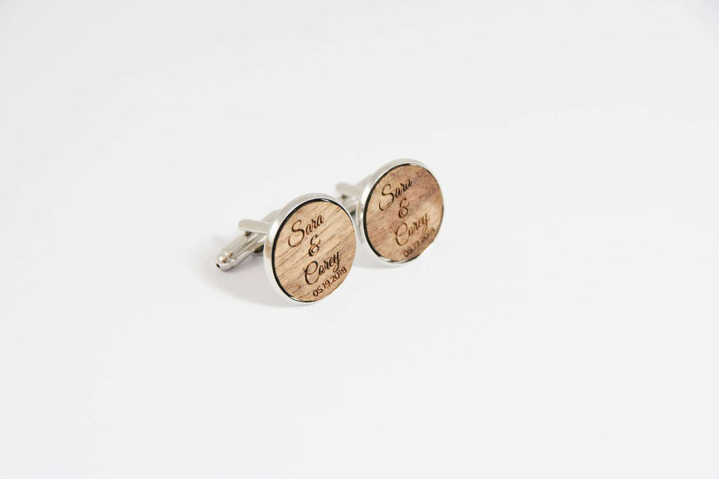 Custom made personalized wedding cufflinks