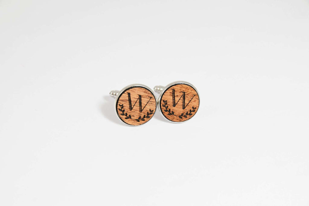 Custom Engraved Initial Cufflinks