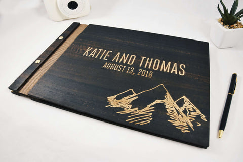 Exclusive engraved eucalyptus wood book