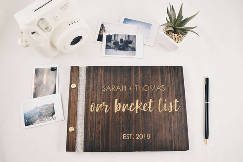 Our bucket list - Album guest book