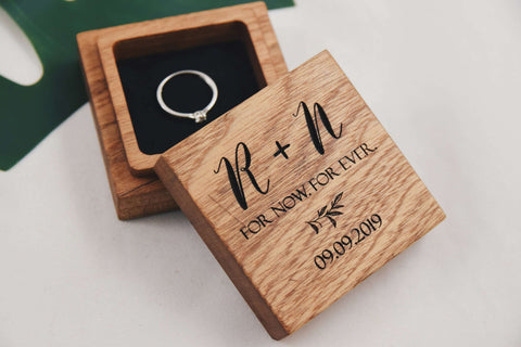 For Now For Ever - Square ring box