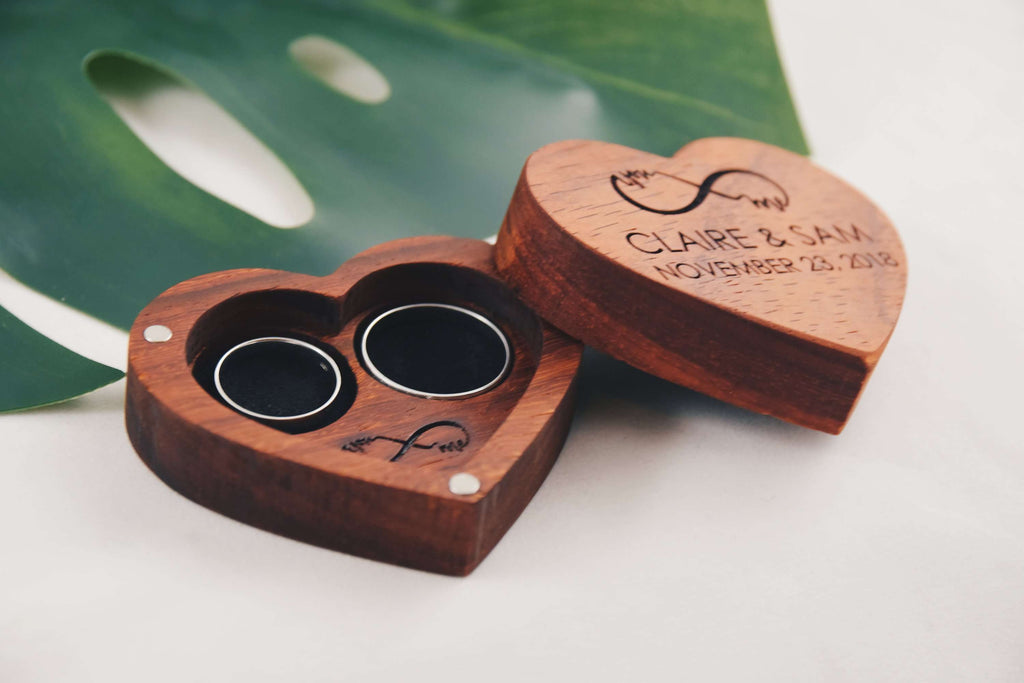 Heart shaped ring box