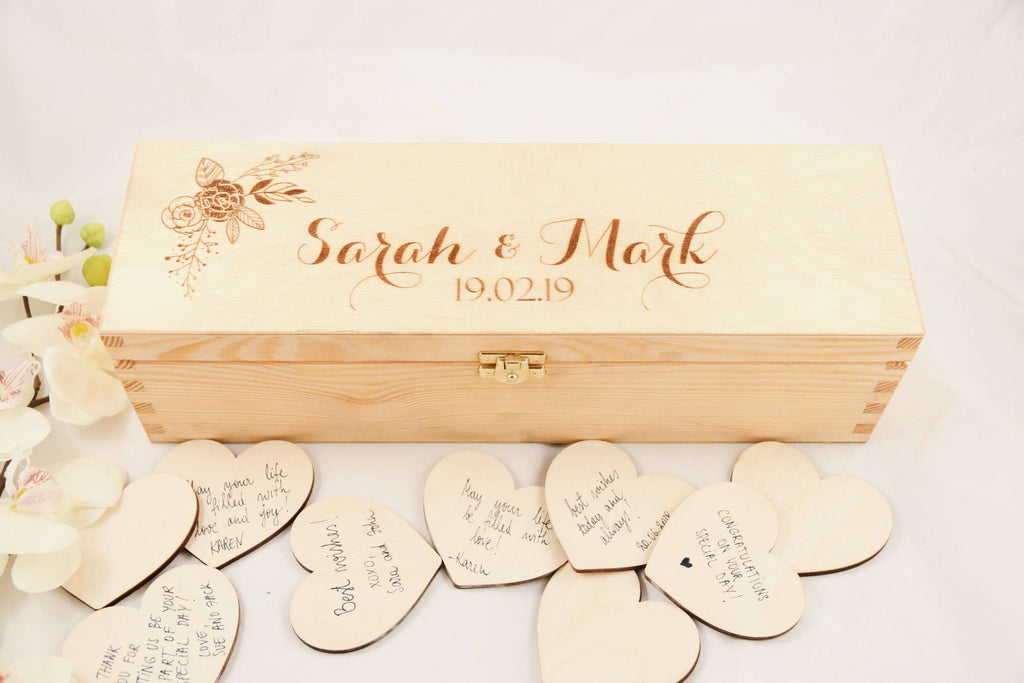 Wedding hearts in the box guest book