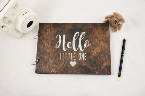 Hello little one baby journal