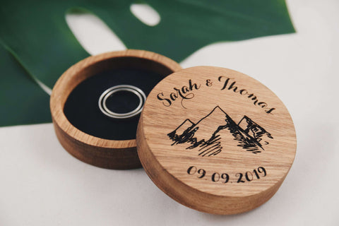 Mountains - Round ring box