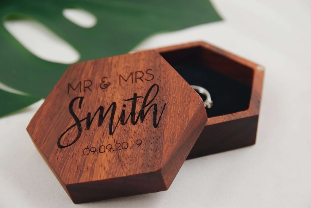 Mr & Mrs - Double ring box