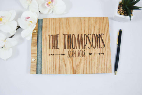 Engraved wedding guestbook