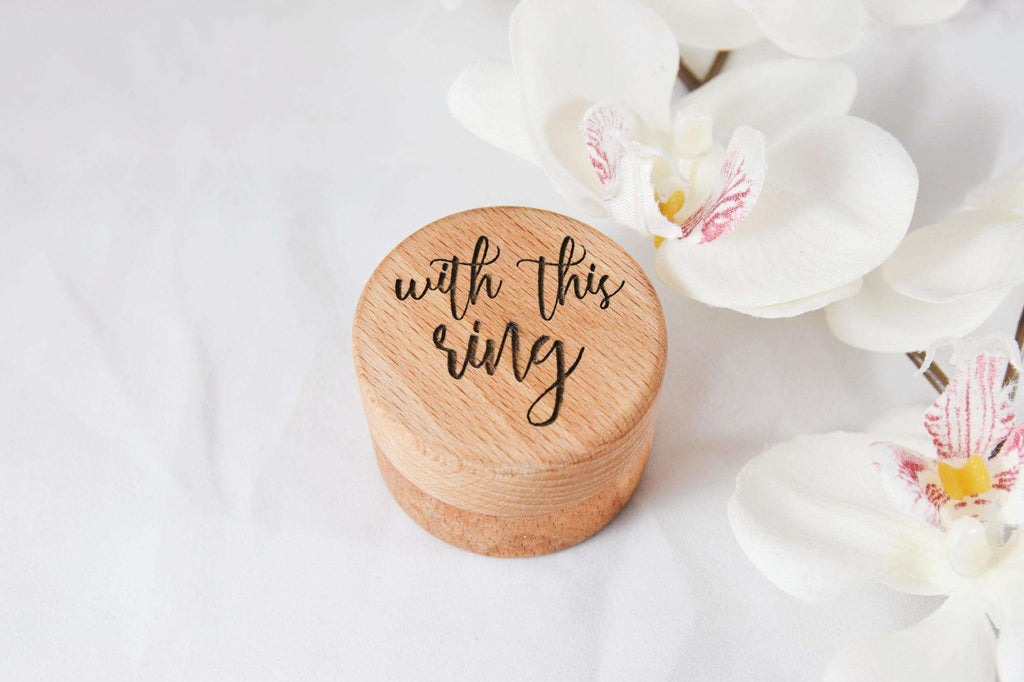 With this ring - Simple ring box