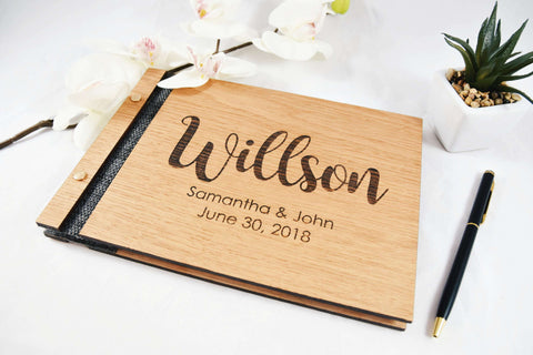 Personalized names wedding guest book