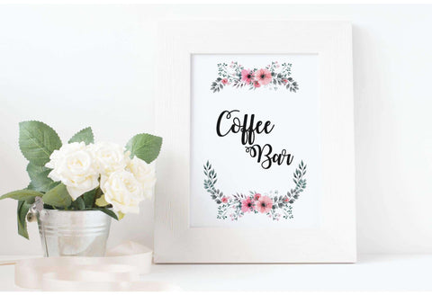 Coffee bar wedding sign