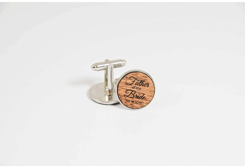 Brides father personalized wedding cufflinks