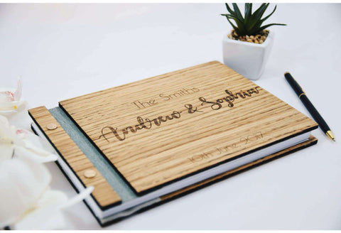 Custom engraved guest book