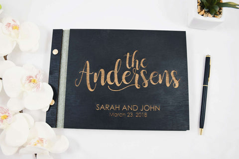 Photo booth gold letters wedding guest book