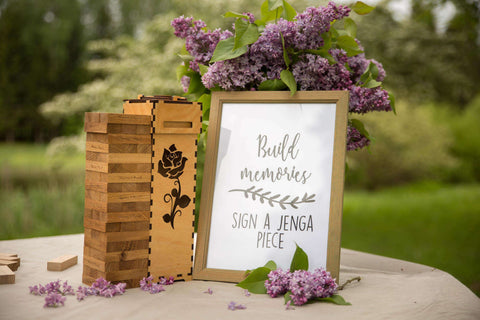 Plywood guestbook blocks
