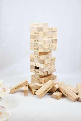Plywood tower blocks game