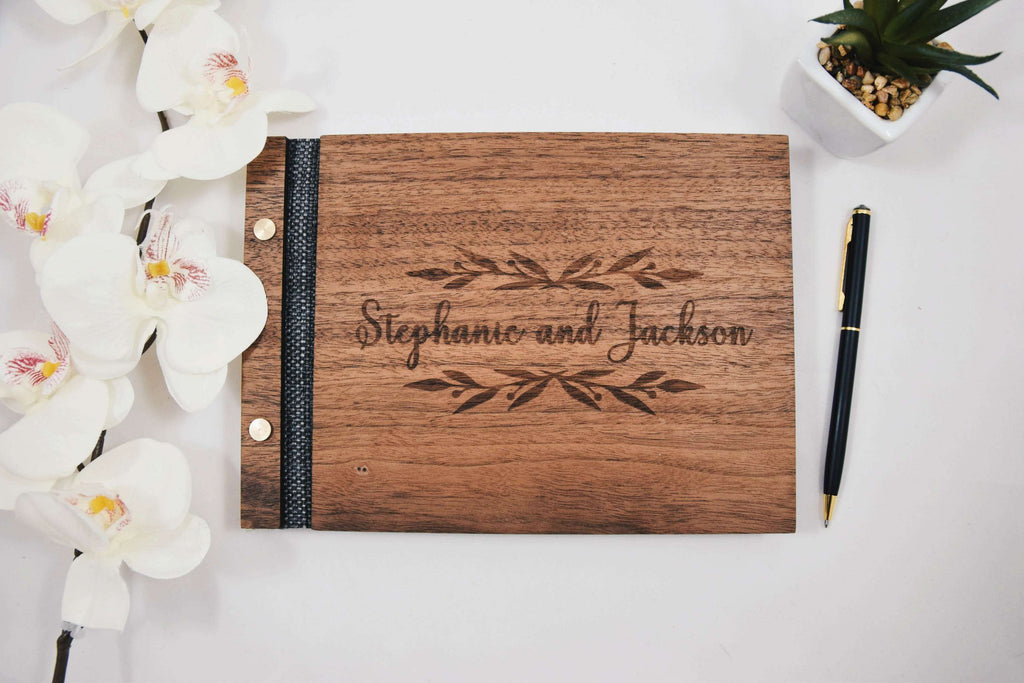 Real Wood Wedding Guest Book