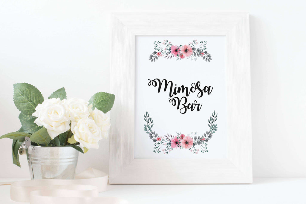 Mimosa Bar Sign Printable