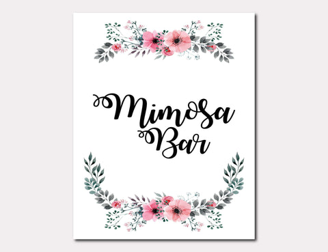 picture regarding Free Printable Mimosa Bar Sign named Free of charge Printable Marriage Symptoms Alwedo