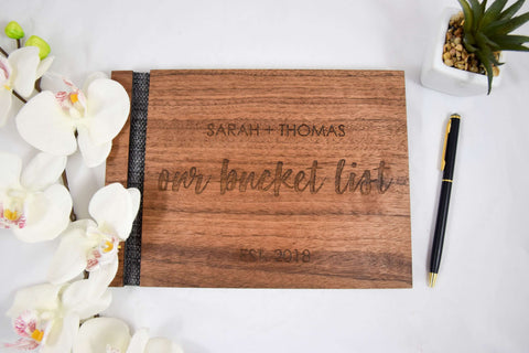 Our Bucket List  Personalized Wood Journal