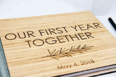 Our First Year Together Scrapbook Journal