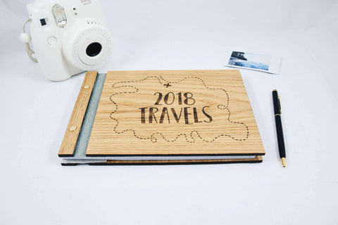 Wood Travel notebook Travel diary