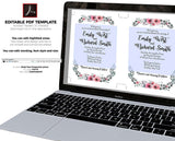 Watercolor Floral Wedding Invitations Template