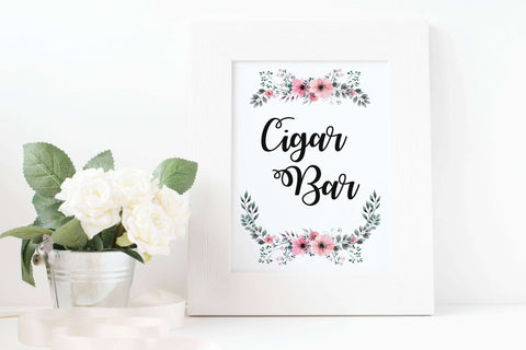 Wedding Cigar Bar Sign