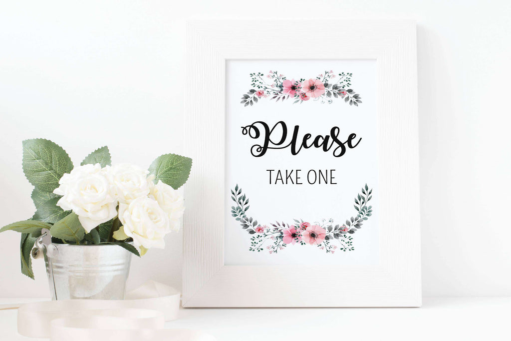picture regarding Please Take One Sign Printable known as Marriage Be sure to consider 1 Indication Printable Alwedo