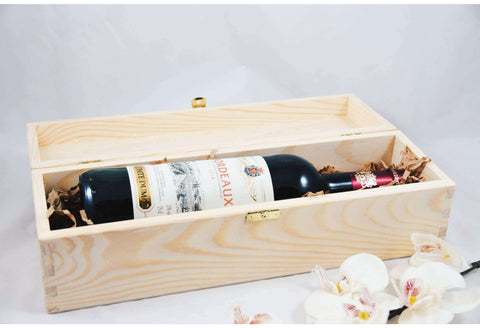 Custom Wedding Wine Box