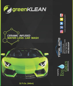 greenKLEAN bottle label