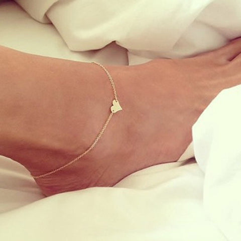 Most Unique Heart Shape Simple & Luxury Foot Jewelry Anklets - Best For Working Women's & Collage Student