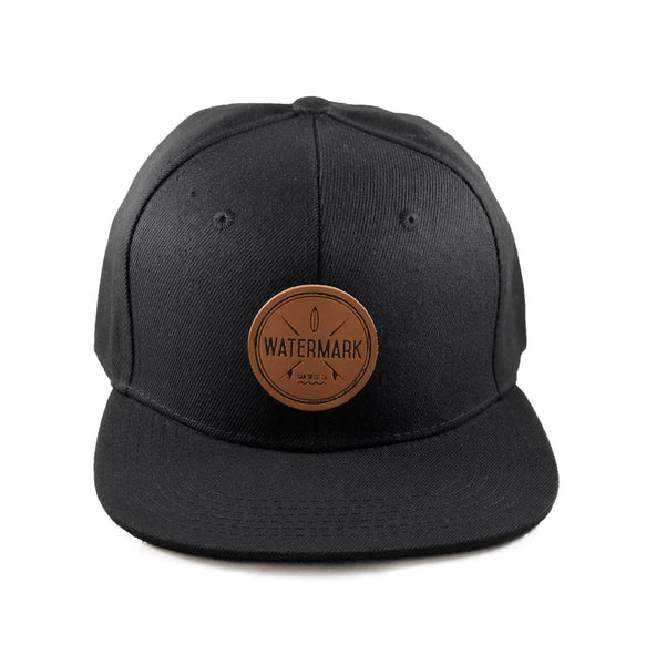 Watermark Black Snapback - Watermark Surf Shop