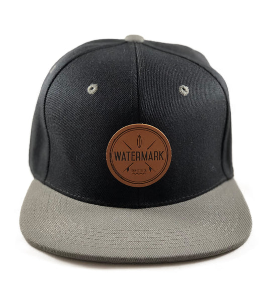 Watermark Black With Grey Bill Snapback - Watermark Surf Shop