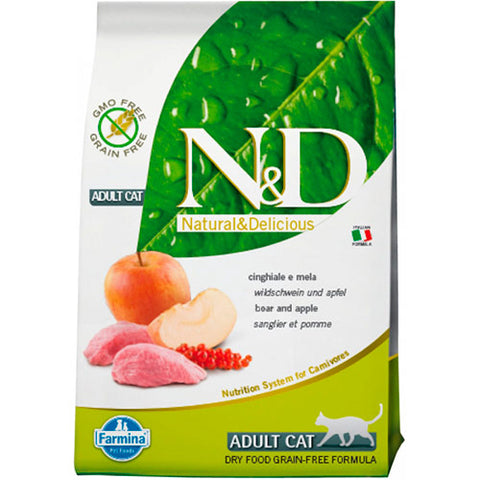N&D ADULT CAT JABALÍ & MANZANA 5Kg