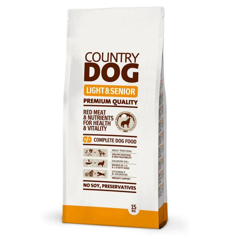 COUNTRY DOG LIGHT & SENIOR 15KG